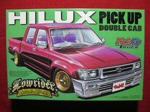 Toyota Hilux Custom Lowrider Double Cab 1:24 Aoshima Pick Up Truck Ute 4x4 4WD