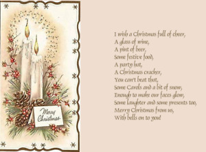 15/30 random Assorted Christmas Card verse  inserts