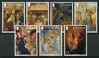 Gibraltar 2018 MNH Christmas Birth & Adoration Christ 7v Set Art Stamps