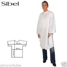 Sibel White Polyester Economyss 1 Professional Salon Cutting Cape Gown With Arms