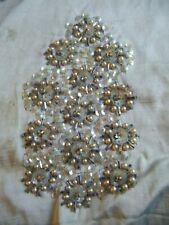 Handmade Antique Vintage Beadwork Silver Applique Piece - 1920's
