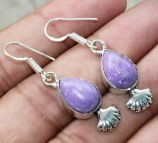 Charoite Gemstone Dangle Earring 925 Sterling Silver Overlay U239-A66