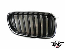 ORIGINAL BMW 2 SERIE Lado del conductor DELANTERO REJILLA Estilo Riñón Negro