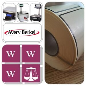 Avery Thermal Scales Labels -  58 x 76mm, 36 Rolls, 18,000 Cream and black