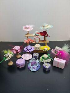 dolls house accessories job lot 19 assorted hat shop items 12th SA1