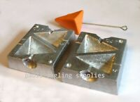 5oz &  6oz Triangle Pyramid 2 in 1  lead weight Mould sea fishing for beach rod