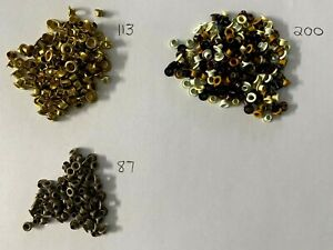 Assorted Round Eyelets, Studs, Scrapbooking, cardmaking  - Lot of 400 - Lot F