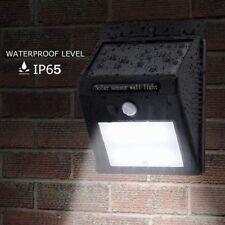 12 LED Energía Solar Sensor De Movimiento Pir luces de pared de seguridad exterior de jardín luz