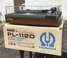 CLASSIC VINTAGE PIONEER PL-112D TURNTABLE NEW BELT IMMACULATE CONDITION BOXED