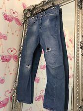 Para Hombre Levi Retorcido Diseñado rasgada envejecido Mediados de lavado de jeans W34 L32