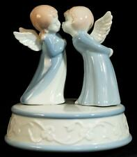 Adorable Boy and Girl Angel Porcelain Music Box