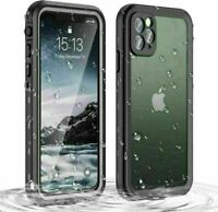 For Apple iPhone 11 Pro Max IP68 Waterproof Built-in Screen Protector Case Cover