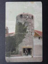 Norfolk Great Yarmouth Ancient Tower shows J.Balls Patato Merchant, Old Postcard