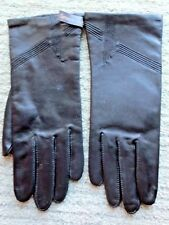 NWT Ladies Fownes Tailored Black Leather Gloves Size 7-1/2