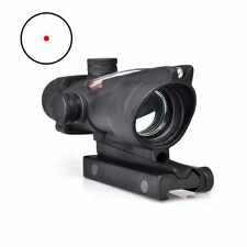 Hunting ACOG Style 1x32 Real Optic Fiber Red Dot Illuminated Rifle Scope Sight *