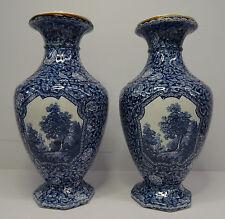 Antikes Paar Villeroy & Boch Mehlem Bonn Vasen Flamand Dekor V&B Art Deco ~ 20er