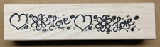 Mounted Rubber Stamps, Valentines Day, Heart Stamps, Flowers & Hearts Border