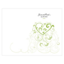 Heart Filigree Personalized Wedding Programs 24/pk