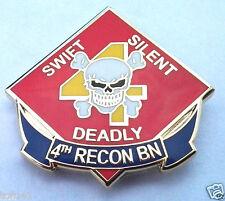 US MARINES  4TH RECON BN Military  Veteran Hat Pin P14725 EE