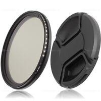 72mm Fader ND Variabler Graufilter ND2 - ND400 & 77 mm Objektivdeckel lens cap