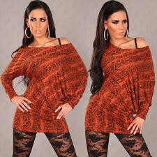 Miniabito Donna Vestitino Monospalla ISF Long Top A096 Tg Unica veste S/M