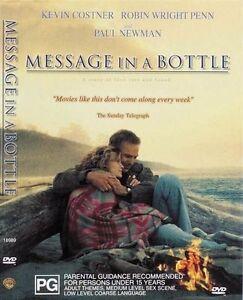 Message In A Bottle  (DVD, 1999) Region 4 PAL free post