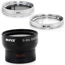 37mm Wide Angle Lens, CPL, MCUV Filters for Sony Handycam CCD TRV87E, TRV138,USA