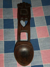 Beautiful Wood Spoon Wallhanging Heart Motif  9 3/16 Inches High