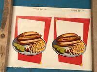 Vintage ORIGINAL Sign / Advertisement Poster Circa 1950