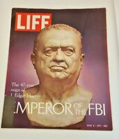 April 9, 1971 LIFE Magazine Hoover FBI. 70s Advertising ads add FREE SHIPPING 4