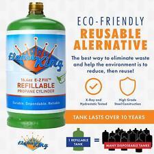 Flame King Refillable 1Lb Propane Cylinder Tank Empty Reusable Safe Legal 16.4Oz