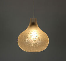 Peill & Putzler Patmos Design Glas Lampe 70s 70er Lamp Selten Hängeleuchte
