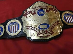 NWA UNITED STATES CHAMPIONSHIP BELT IN 4MM ZINC DEEP ETCHING GOLD PLATED!