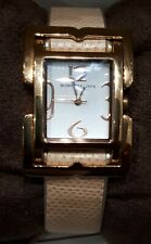 BCBG MAXAZRIA Women's Square Face Pink Leather Strap Watch & Box - RRP £95