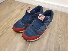 Nike Air Max 1 Midnight Navy Red Schuhe Sneaker Größe 43 / 9.5 | 537383-400
