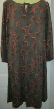 Pretty Laura Ashley 3/4 sleeve TREE Print  Tunic Dress size 10 uk
