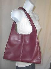 Nine & Company Womens Satchel Burgundy Red Shoulder Bag Handbag Medium Purse
