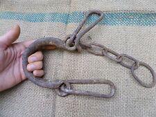 ANTIQUE WROUGHT IRON LEGCUFF SHACKLES FOOTCUFF LEG IRON OTTOMAN SLAVE