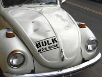 HULK WAS HERE Car Surf Vinyl Decal Sticker EURO JDM DUB VW Funny Jap Dent Repair