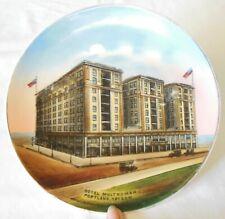 Antique Multnomah Hotel Oregon Souvenir Plate Jonroth Studios Germany