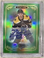 2019-20 STATURE ZACH SENYSHYN AUTO ROOKIE GREEN /85 BOSTON BRUINS #179