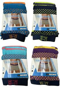 Pack of 3 Mens Dots Boxer Shorts Assorted Designer Fashion Band Underwear Cotton