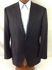 CANALI Black Blue Pure Wool 2-BT Suit 44S/W38 EU 54C.