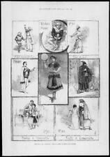 1883 Antiguo Print-Londres Drury Lane Teatro Opera Esmerelda (202)
