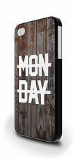 Monday Wood Texture Hipster Cover Case for iPhone 4/4s 5/5s 5c 6 6 Plus