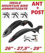 """Coppia PARAFANGHI ANTERIORE + POSTERIORE per Mountain Bike 26""""  27,5""""  29"""""""