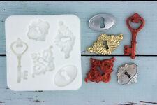 Silicone Mould, Keyholes, Locks, Key Hole, Escutcheon, Ellam Sugarcraft M0123