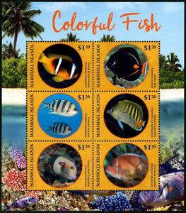 HERRICKSTAMP NEW ISSUES MARSHALL ISLAND Sc.# 1227 Colorful Fish Sheetlet #1