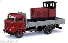 BUSCH 95137, ESPEWE:  IFA W50 Sp »Ziegelei« mit Lok, H0 Modell 1:87