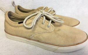 SANUK GUIDE PLUS WASHED Natural Beige LACE-UP URBAN WALLA BOAT SHOES sizes
